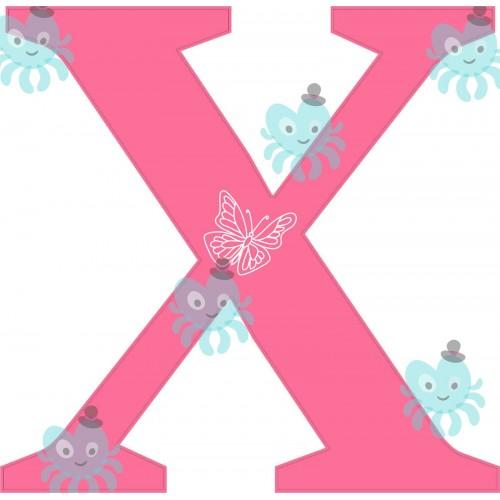 X betű falmatrica