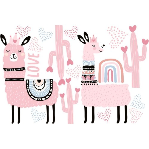 Láma falmatrica, rózsaszín