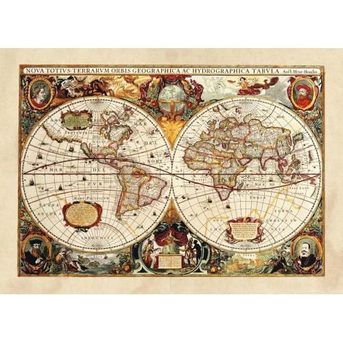 Földgömb térkép poszter