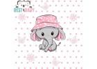 Elefántos gyerekszoba poszter