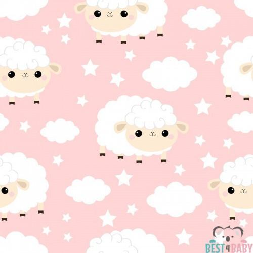 Bárányos, felhős gyerek tapéta