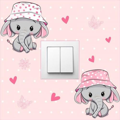 Elefántos villanykapcsoló matrica