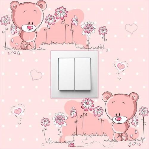 Pink macis villanykapcsoló matrica