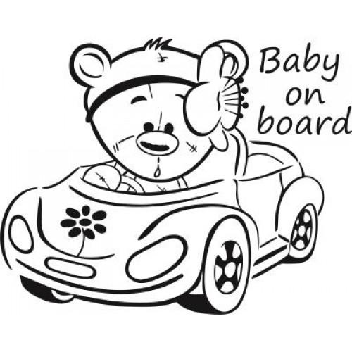 Autós macis baba a fedélzeten autómatrica