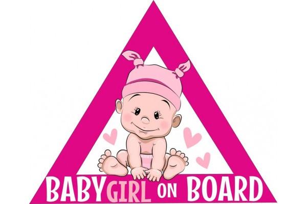 Baby on board autómatrica, pink