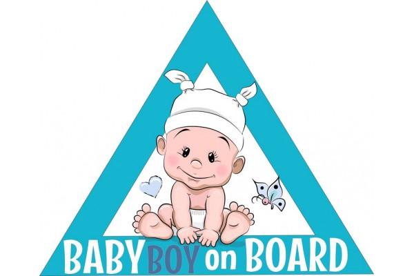 Baby on board autómatrica, türkizkék