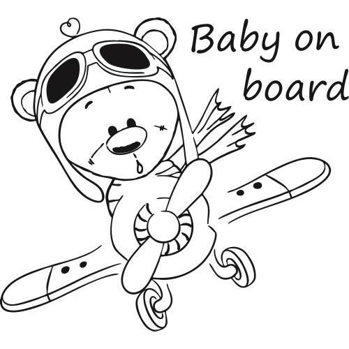 Repülős macis baba a fedélzeten autómatrica