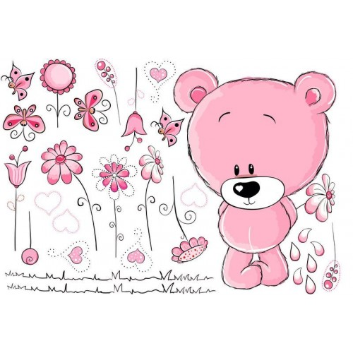 Macis falmatrica virágokkal, pink