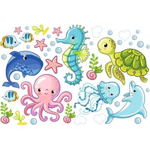 Óceán állatai falmatrica