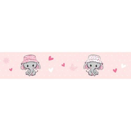 Elefántos rózsaszín bordűr