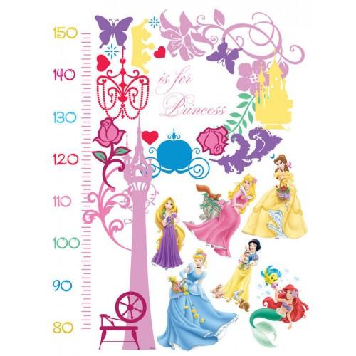 Hercegnők magasságmérős matrica