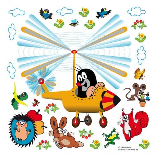 Kisvakond és a helikopter gyerek matrica