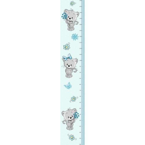 Cica kisfiú magasságmérős falmatrica