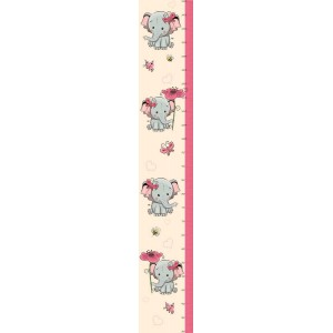 Elefántos magasságmérős matrica