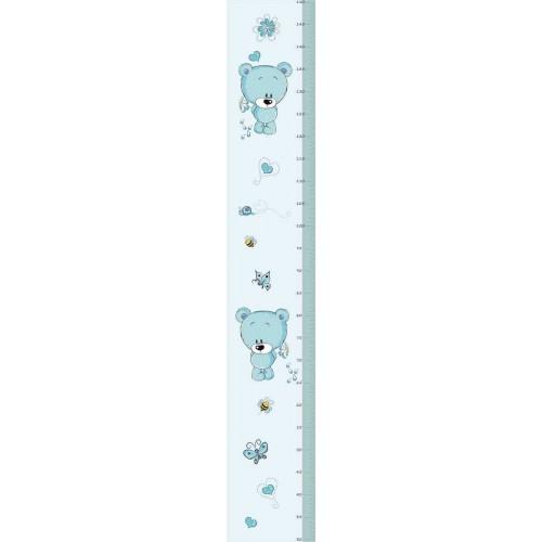 Kék maci magasságmérős matrica